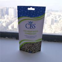 China Matte White Hemp Seeds Resealable Packaging Bags , Plastic Pouch Packaging on sale