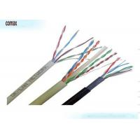 Quality PVC / LSNH Jacket Fiber Optic Ethernet Cable , 4 Pairs UTP Cable Cat6 Color Customized for sale