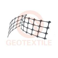 Quality High Strength PP Biaxial Geogrid Soil Reinforcement For Railway Construction for sale