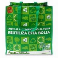 Quality RPET Green Leaf Shopping Bag with OPP Film and Matte Lamination for sale