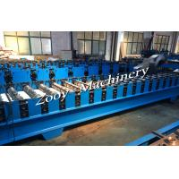 China Corrugated Metal Deck Roll Forming Machine With Hydraulic Cutting, Hydraulic Punching on sale