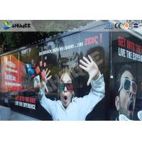 Quality Entertainment Equipment Type Of 7d Movie Theater , Mobile Cinema , Flexible Cabin for sale