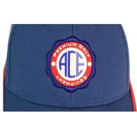 Quality ACE 6 Panels Unisex Custom Stagger Color Rubber Patch Craft Logo with Velcro Closure Buckle Baseball Sports Cap Hat for sale