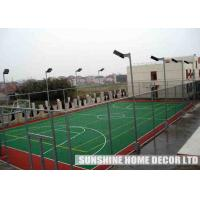 Quality Colorful PP Synthetic Indoor / Outdoor Basketball Court Flooring , Green Plastic Floor, shcool playground floor PP tiles for sale