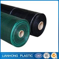 Quality green black color pp woven slit fence, polypropylene landscape fabric, woven gound cover for sale
