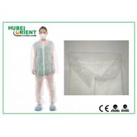 Quality White Disposable Coveralls Non Woven For Medical Without Hood , Free Sample for sale
