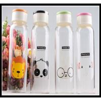 Quality 2015 Promotional Christmas Gift glass water bottle with any simple elegant logo and color for sale