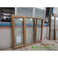 Quality Wood Clad Aluminum Window & Door For  Villas/Apartment, with Insulating Double Glass for sale