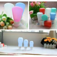 Quality leak proof squeezable, BPA free, Food Grade Protable Silicone Travel Bottle from Hebei Shengxiang for sale