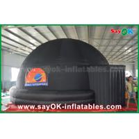 Quality 6m Black Inflatable Planetarium Dome Projection Screen Tent With Logo Print for sale