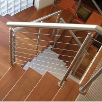 Modern stainless steel cable railing system with square /round handrails
