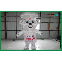 Quality White Custom Advertising Inflatable Bear Inflatable Cartoon Characters for sale