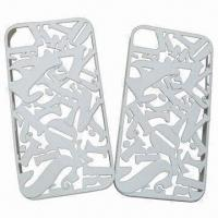 Quality Silicone Mobile Phone Covers for iPhone, Eco-friendly, Dust-proof, Durable, Various Colors Accepted for sale
