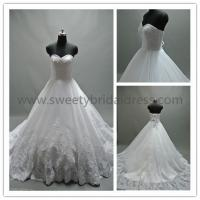 Quality Ball Gown Sweetheart Appliques Lace up Lace Wedding Dress #LT2324A for sale