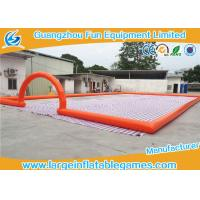 Quality Big Airtighted Inflatable Soccer Field , Outdoor Large Inflatable Games for sale