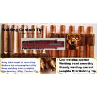 Buy cheap MIG welding Contact Tip for welding torch Flux cored wire from wholesalers