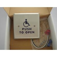 "Quality 4.5"" Round Push To Exit Switch / Handicap Accessible Door Openers With Disabled Logo for sale"