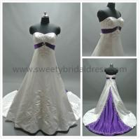 Quality Aline Sweetheart Embroidery Beading Satin Wedding Dress #ZJH301 for sale