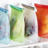 China Fancy reusable silicone food storage bag large food storage bag fresh food fruit vegetable storage bag on sale