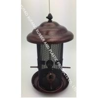 Multi-function bird feeder,Automatic Seed And Suet Bird Feeder Ring Hanging Metal Copper Plated Finish