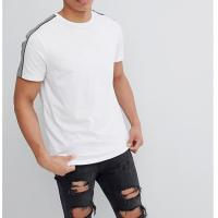 Quality White Trendy Oversized T Shirts O Neck Classic Contrast Stitching Design for sale