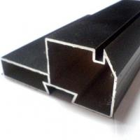 Buy Black Powder Coated RAL9006 Aluminium LED Profiles / Aluminum Extrusion Profiles at wholesale prices