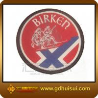 Quality round embroidered woven patches for sale