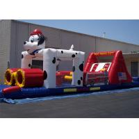 Quality 0.55mm PVC 12*4*3m Dog Inflatable Obstacle Course For Obstacle Sport Game for sale