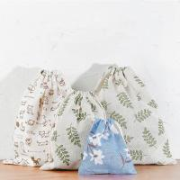 Quality Travel Storage Bag Reusable Cute Pattern Printed Drawstring Backpack Bag for sale