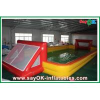 Quality Outdoor Custom 12 x 2 x 6m Inflatable Soccer Field / Football Pitch With Air Pump for sale