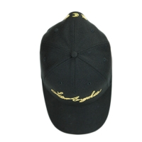 Quality New Design Black 5panel Structured custom flat embroidery logo sports hats caps for sale