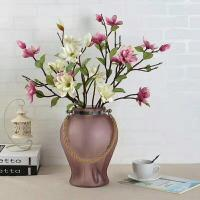 China Handmade Home Sand Decorative Glass Vases Indoor Colored With Hemp Rope on sale