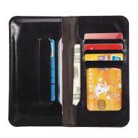 Buy Press Print Universal Cell Phone Leather Wallet Case Beyond 4.7 Inch Five ID Card Slot at wholesale prices