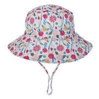 Quality Baby Toddler Plaid Reversible Sun Protection Animal Hat Bucket caps for sale