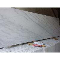 China Marble Guangxi White Kwong Sal White Cloudy White Rough Polished Slabs 1.8cm thickness Quality A for sale