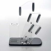 Quality Transparent acrylic store displays / acrylic kitchen knife holder for sale