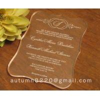 Quality wasteful wedding invitation card for sale