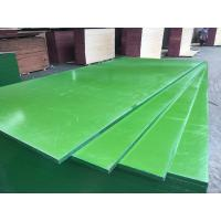 Quality China ACEALL Construction Shuttering Green PP PVC Plastic Film Coated Plywood Board Lumber for sale