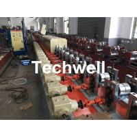 Quality Aluminum , Carbon Steel Pu Foam Rolling Shutter Door Making Machine With Servo Tracking Flying-Saw Cutting for sale