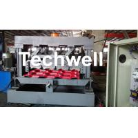 Quality Color Steel Glazed Tile Roll Forming Equipment , 5.5 Kw Main Motor Power Roll Former Machine for sale