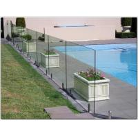 Quality Exterior stainless steel spigot glass railing/ glass balustrade with free design for sale
