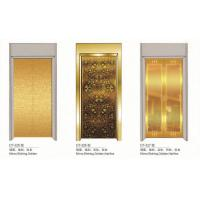 Quality Observation Elevator Spare Parts Gold Elevator Doors Aluminium Alloy Material for sale