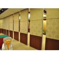 Quality Veneer Hotel Moveable Wall Partitions , Sound Proof Interior Door for sale