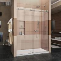 Quality Sliding All Tempered Glass Shower Enclosure With Stainless Steel Handle for sale