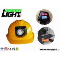 China Safety 4500 Lux 4.5Ah Underground Miner Cap Lamp Hard Hat Lights on sale
