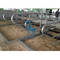 Quality Adjustablle Space Sheep Feed Barriers , Self Locking Head Gates For Livestock Farm for sale