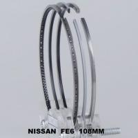 China Chrome Nissan 6 Cylingder Piston Ring Set Gapless , Truck Engine Parts on sale