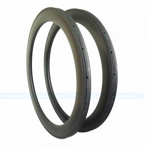 Quality 7-tiger Carbon Road Bike 60 mm U shape Depth 25 mm width 700 C Carbon Rim tubular basalt  brake  ud weave for sale