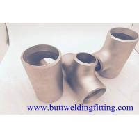 Buy Butt Weld Fittings 2''x1-1/2'' SCH10S Copper Nickel 90/10 ASME B16.9 Concentric Tee at wholesale prices