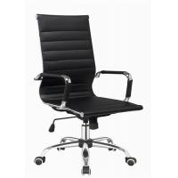 Quality Modern Designer Brown Leather Office Chair , Adjustable High Back Office Chair for sale